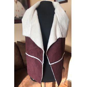 Coco + Jaimeson Asymmetric Furry Vest
